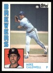 1984 Topps #605  Mike Caldwell  Front Thumbnail