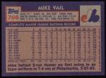 1984 Topps #766  Mike Vail  Back Thumbnail