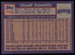 1984 Topps #768  Champ Summers  Back Thumbnail