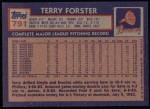 1984 Topps #791  Terry Forster  Back Thumbnail