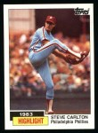 1984 Topps #1   -  Steve Carlton 1983 Highlight - 300th Win Front Thumbnail