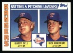 1984 Topps #37   -  Rick Honeycutt / Buddy Bell Rangers Leaders & Checklist Front Thumbnail