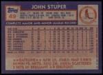 1984 Topps #49  John Stuper  Back Thumbnail