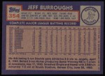 1984 Topps #354  Jeff Burroughs  Back Thumbnail