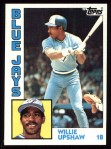 1984 Topps #453  Willie Upshaw  Front Thumbnail