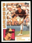 1984 Topps #778  Andy Hawkins  Front Thumbnail