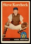 1958 Topps #403  Steve Korcheck  Front Thumbnail