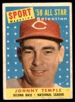 1958 Topps #478   -  Johnny Temple All-Star Front Thumbnail