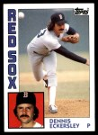 1984 Topps #745  Dennis Eckersley  Front Thumbnail