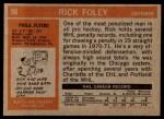 1972 Topps #98  Rick Foley  Back Thumbnail