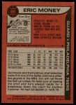 1979 Topps #89  Eric Money  Back Thumbnail