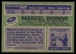 1976 Topps #91  Marcel Dionne  Back Thumbnail