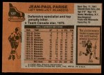 1975 Topps #127  Jean-Paul Paris  Back Thumbnail