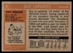 1972 Topps #57  Guy Lapointe  Back Thumbnail