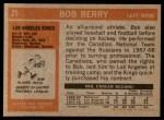 1972 Topps #21  Bob Berry  Back Thumbnail