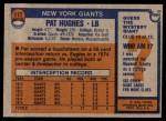 1976 Topps #117  Pat Hughes  Back Thumbnail