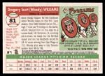 2004 Topps Heritage #81  Woody Williams  Back Thumbnail