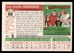 2004 Topps Heritage #56  Luis Gonzalez  Back Thumbnail