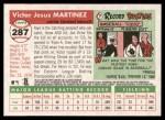 2004 Topps Heritage #287  Victor Martinez  Back Thumbnail