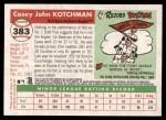 2004 Topps Heritage #383  Casey Kotchman  Back Thumbnail
