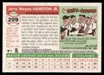2004 Topps Heritage #209  Jerry Hairston Jr.  Back Thumbnail