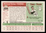 2004 Topps Heritage #206  Michael Young  Back Thumbnail