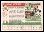 2004 Topps Heritage #361 NEW Ryan Wagner   Back Thumbnail