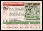 2004 Topps Heritage #204  Rondell White  Back Thumbnail