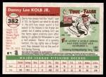 2004 Topps Heritage #382  Danny Kolb  Back Thumbnail