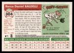 2004 Topps Heritage #304  Rocco Baldelli  Back Thumbnail