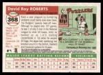 2004 Topps Heritage #368  Dave Roberts  Back Thumbnail