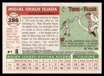 2004 Topps Heritage #286  Miguel Tejada  Back Thumbnail