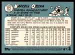 2014 Topps Heritage #112  Marcell Ozuna  Back Thumbnail