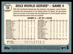 2014 Topps Heritage #135   -  Jonny Gomes World Series Game #4 - Gomes Knots it Up Back Thumbnail