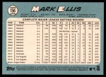 2014 Topps Heritage #156  Mark Ellis  Back Thumbnail