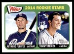 2014 Topps Heritage #189   -  Tommy Medica / Reymond Fuentes Padres Rookies Front Thumbnail