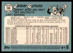 2014 Topps Heritage #246  Jeremy Guthrie  Back Thumbnail