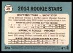2014 Topps Heritage #374   -  Wilfredo Tovar / Mauricio Robles Rookies Back Thumbnail