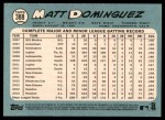 2014 Topps Heritage #388  Matt Dominguez  Back Thumbnail