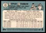 2014 Topps Heritage #470  Stephen Strasburg  Back Thumbnail