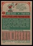 1973 Topps #171  Joe Ellis  Back Thumbnail