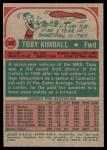 1973 Topps #37  Toby Kimball  Back Thumbnail