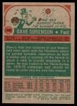 1973 Topps #14  Dave Sorensen  Back Thumbnail