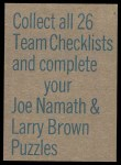 1973 Topps  Checklist   Falcons Back Thumbnail
