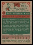 1973 Topps #126  Paul Westphal  Back Thumbnail