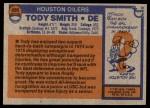 1976 Topps #486  Tody Smith  Back Thumbnail