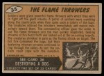 1962 Topps / Bubbles Inc Mars Attacks #35   The Flame Throwers  Back Thumbnail