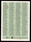 2005 Topps Heritage #0   Checklist 1 of 2  Back Thumbnail