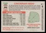 2005 Topps Heritage #90   Cincinnati Reds Team Back Thumbnail