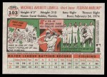 2005 Topps Heritage #103  Mike Lowell  Back Thumbnail